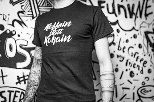 t-shirt koffein statt kokain